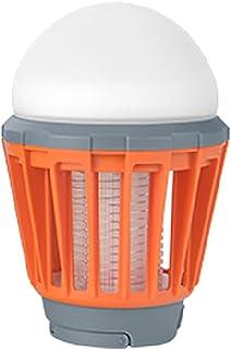 GUOWEI Lámpara Del Mosquito Toma USB Luz Púrpura Descarga Eléctrica Colgar Física Pura Sin Radiación Mini Portátil Al Aire Libre (Color : Naranja, Tamaño : 8.8x8.8x17.3cm)