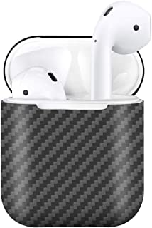 MONOCARBON Real Carbon Fiber Case Compatible AirPods with Charging Case [Not Wireless Charging Case] Slim Carbon Fibre Cover for Apple Air Pods Case Box for Apple Earphone Protector Matte Surface