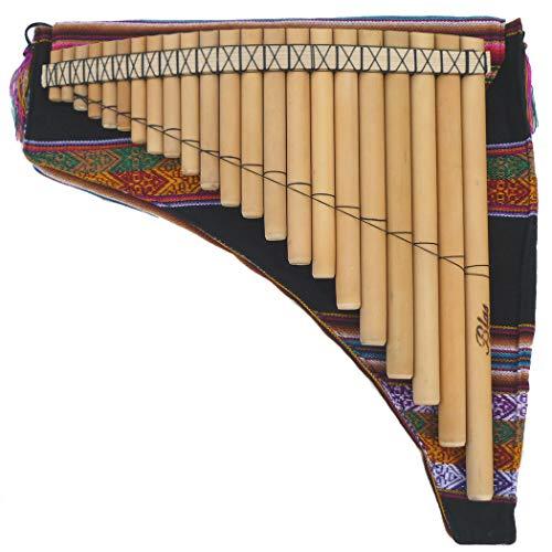 左低音 フォルクローレ楽器 民族楽器 パンフルート ケース付 PAN-21K1 33cm 22管