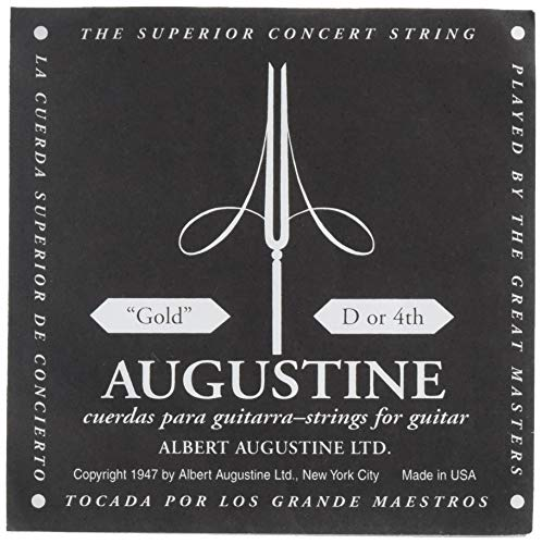Augustine Classic Gold D4 Single D 4th Classical Guitar String