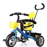 Aocean Niños Triciclo Bicicleta Triciclo Infantil para bebés a Partir los 8 Meses, Control Parental Banda Goma Ruedas Gomas y Conducción Silenciosa Máx 30 kg, Blue
