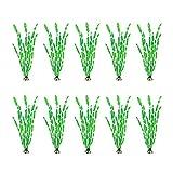 NEL 10 piezas de hierba de plástico artificial para acuario de plantas de malezas de mar de acuario decoración de peceras