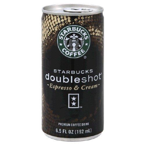 Starbucks Doubleshot Premium Coffee Drink, Espresso & Cream , 6.5 Fl. Oz, (Pack of 2)