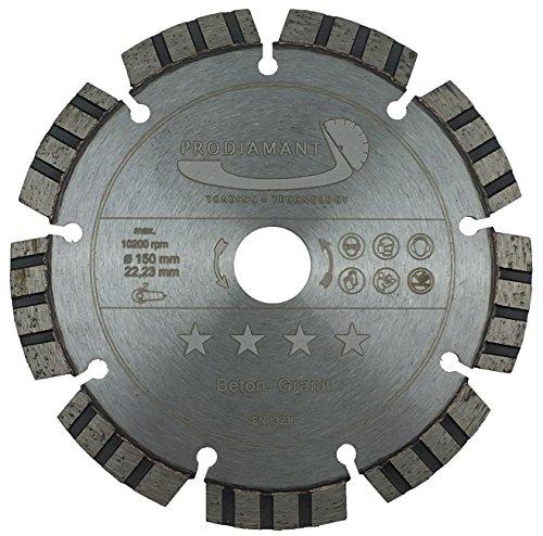 PRODIAMANT Premium Diamant-Trennscheibe Beton Laser 150 mm x 22,2 mm Diamanttrennscheibe PDX821.711 150mm