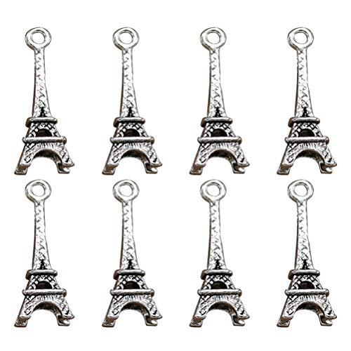 TENDYCOCO - 50 Colgantes Vintage de la Torre Eiffel, aleación, Colgante para...