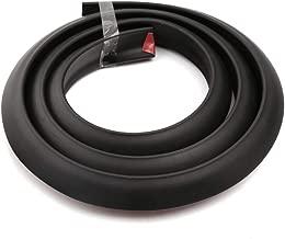 2PCs 1.5m Universal Car Wheel Eyebrow Arch Trim Lips Strip Fender Flare Extension Moulding Protector Black