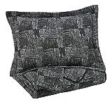 Signature Design by Ashley - Jabesh Queen Size Quilt Set - Contains 3 Pieces - Black
