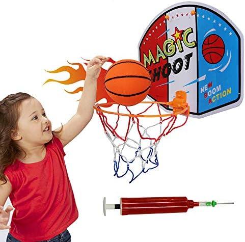 Indoor Mini Basketball Hoop for Kids Over The Door Plastic Basketball Toy Backboard with Net product image