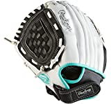 Rawlings Girls' 10.5 in Fastpitch Softball Pitcher/Infield Glove, for Left Hand Throwers