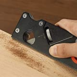 Woodworking Edge Corner Plane,Carpenter Manual Block Planer Chamfer Planer,Corner Rounding Edge Trimming Planer for Woodworking DIY Hand Tool (Black)