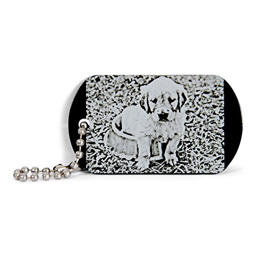 Wogenfels - Aluminium Schlüsselanhänger (Fotogravur beidseitig) | QUALITÄT und Support aus Österreich | Dog Tag mit individueller Gravur | Das Geschenk UNIKAT