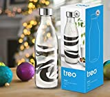 Treo by Milton Ivory Premium Glass Printed Bottle 1000 ml, 1 Pc, Abstract