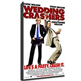 USA Wedding Crashers Movie Poster Picture Art Print Canvas Wall Art Home Living Room Bedroom Decorative Mural (8×12inch-Framed)