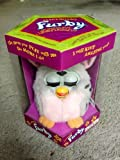 FURBY SILVER WITH BLACK SPOTS AND PINK TUMMY, PINK INNER EARS MODEL 70-800 by HASBRO (English Manual)