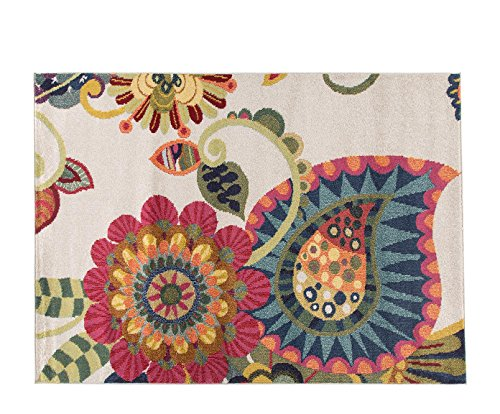 Alfombrista Moderna 6 Alfombra, Acrílico, Multicolor, 140 x 190 cm