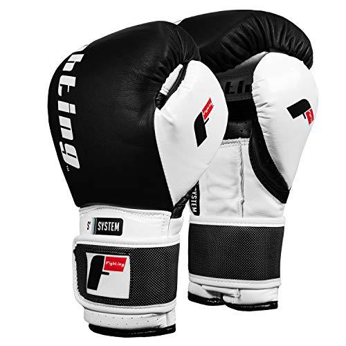 Fighting Sports S2 Gel Power Sparring Gloves, Black/White, 12 oz