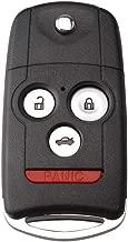 Uncut Keyless Entry Remote Control Car Key Fob Shell Case fit for Honda Accord Acura MDX Acura RDX Acura TL Acura TSX Acura ZDX