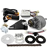 450W Newest Electric Bike Left Drive Conversion Kit Can Fit Most of Common Bicycle Use Spoke Sprocket Chain Drive for City Bike(36V Twist Kit)