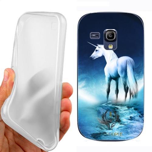 Custodia Cover Case Unicorno Bianco per Samsung Galaxy S3 Mini i8190