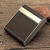 ZZPP Caja de Cigarrillos,pitillera portátil,Boquilla de Cuero con Personalidad Creativa para Hombres,Exquisita...