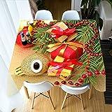 ETDSDVF Mantel 3d Navidad bolas de colores tema algodón mantel rectangular y redondo cubierta de mesa para el hogar-140x180cm