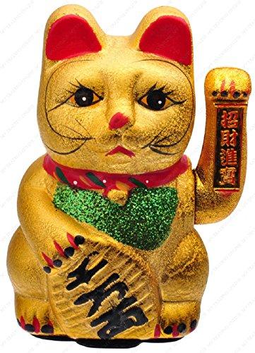 M.V. Trading MCAT102V Beckoning Ceramic Maneki Neko Lucky Cat, 8.25-Inches