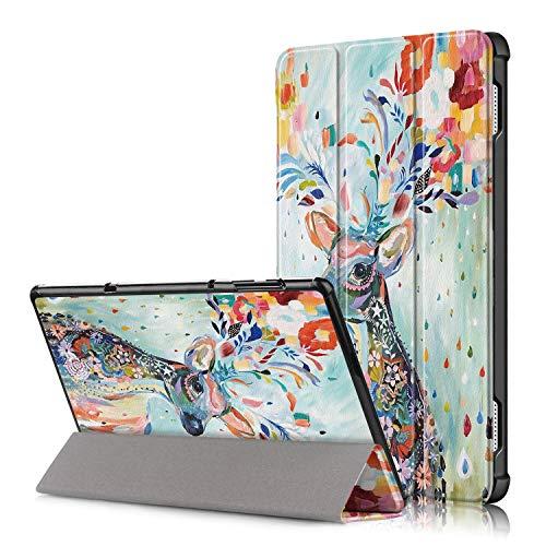 Xuanbeier Lenovo Tab4 10 Custodia - Ultra Sottile e Leggera PU Case Cover per Lenovo Tab 4 10 Tablet (TB-X304),Deer