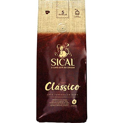 Sical 5 Stars Köstliche portugiesische geröstete Kaffeebohnen, 1 kg (2 Beutel = 2 kg)
