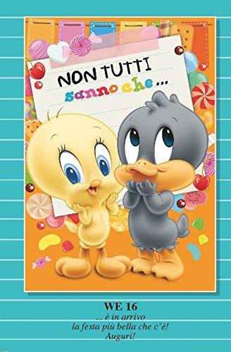 Marpimar Biglietto Auguri Compleanno TITTI E DUFFY DUCK BABY Non Tutti Sanno Che.