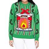 LED Kamin Christmas Sweater