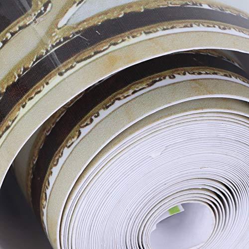 Xndz Etiqueta engomada de la Teja de la línea de la Cintura, Borde desprendible del Papel Pintado del PVC 3D, Moda ecológica para la exhibición de la Ventana de la Puerta
