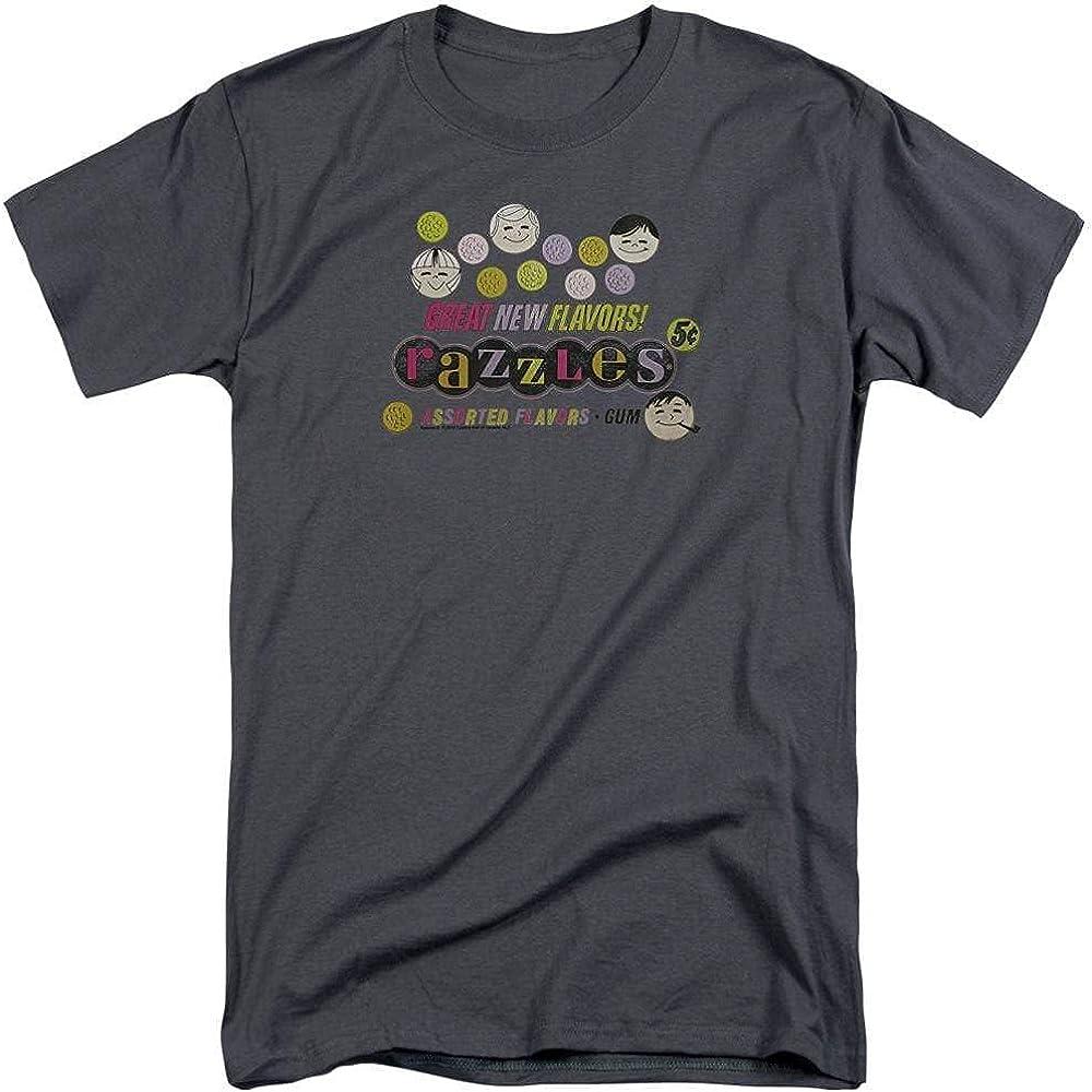 Dubble Bubble Razzles Retro Box Adult Tall Fit T-Shirt