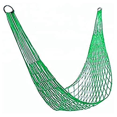 Greatangle Equipo al Aire Libre Hamaca de Cuerda de Nailon de 9 Hilos Portátil Camping Ocio Malla Hamaca Verde
