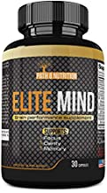 Elite Mind Premium Brain Booster Supplement - All Natural Nootropic Stack - Brain Supplement Supports Enhanced Memory, Focus, and Clarity - USA Formulated, 30 Day Supply, Powerful One Per Day Formula
