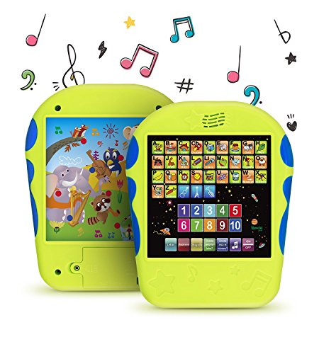 """Spanish Learning Tablet Educational Toy for Kids. Touch and Learn Spanish Alphabet Toy for Toddlers - Learn Spanish Numbers, ABC, Spelling, """"Where is?"""" Game, Melodies, Animals and Sounds"""
