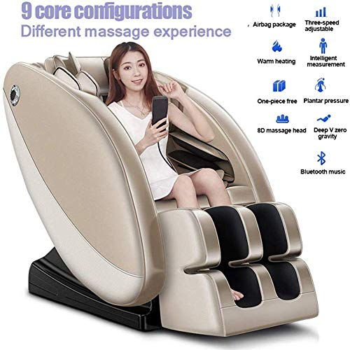 Sale!! XYQC Massage Chair, Electric Zero Gravity Intelligent Full Body Relax Shiatsu Armchair with 3...