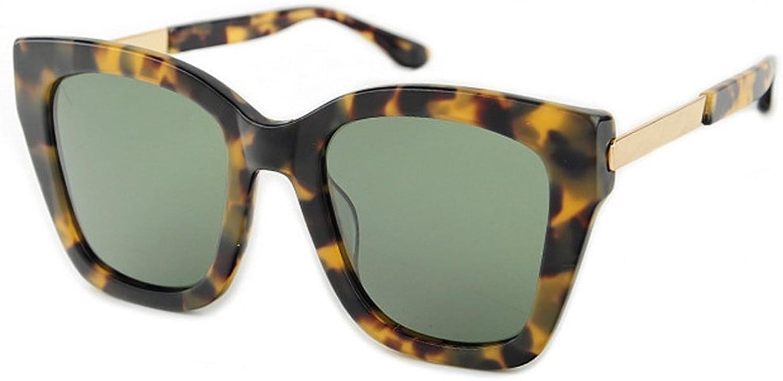 EYES Irregular Oversized Cat Eyes Women's Polarized Sunglasses Acetate Fibre Frame TAC Lens UV Predection Driving Party Vacation Sunglasses Outdoor