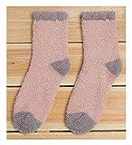 Calcetines de invierno desconocidos para mujer, gruesos, calcetines de cachemir, atractivos calcetines de felpa, cálidos, para dormir, para el suelo, para mujer, divertidos calcetines Coral Flu 3