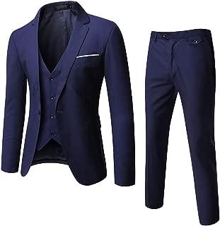 Men's Suit Slim Fit One Button 3-Piece Suit Blazer Dress Business Wedding Party Jacket..