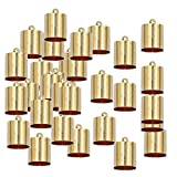 chiwanji 20Pcs End Caps Bead Stopper Fit 9 / 10mm Cable DIY Braccialetto Gioielli Marcatura