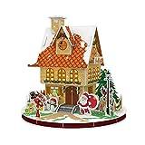 Lizefang Rompecabezas 3D de la casa de Navidad, Rompecabezas de la casa de Jengibre de Navidad 3D, Kits de decoración de la casa de Navidad en 3D Artes y Manualidades navideñas para Que los innate