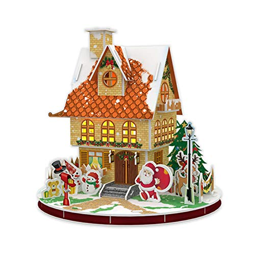 LyhomeO Christmas House 3D-Jigsaw Puzzle Game For Children And Adults-Christmas Country Puzzle Handmade Graffiti Early Education Educational Toys Handmade Graffiti Early Education Educational Toys