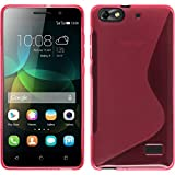 PhoneNatic Hülle kompatibel mit Huawei Honor 4c - pink Silikon Hülle S-Style + 2 Schutzfolien