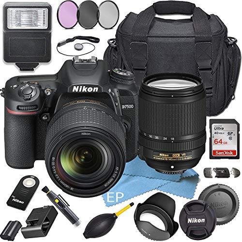 Best Prices! Nikon D7500W/Nikon AF-S DX NIKKOR 18-140mm f/3.5-5.6G ED VR Lens + 64GB High Speed Me...