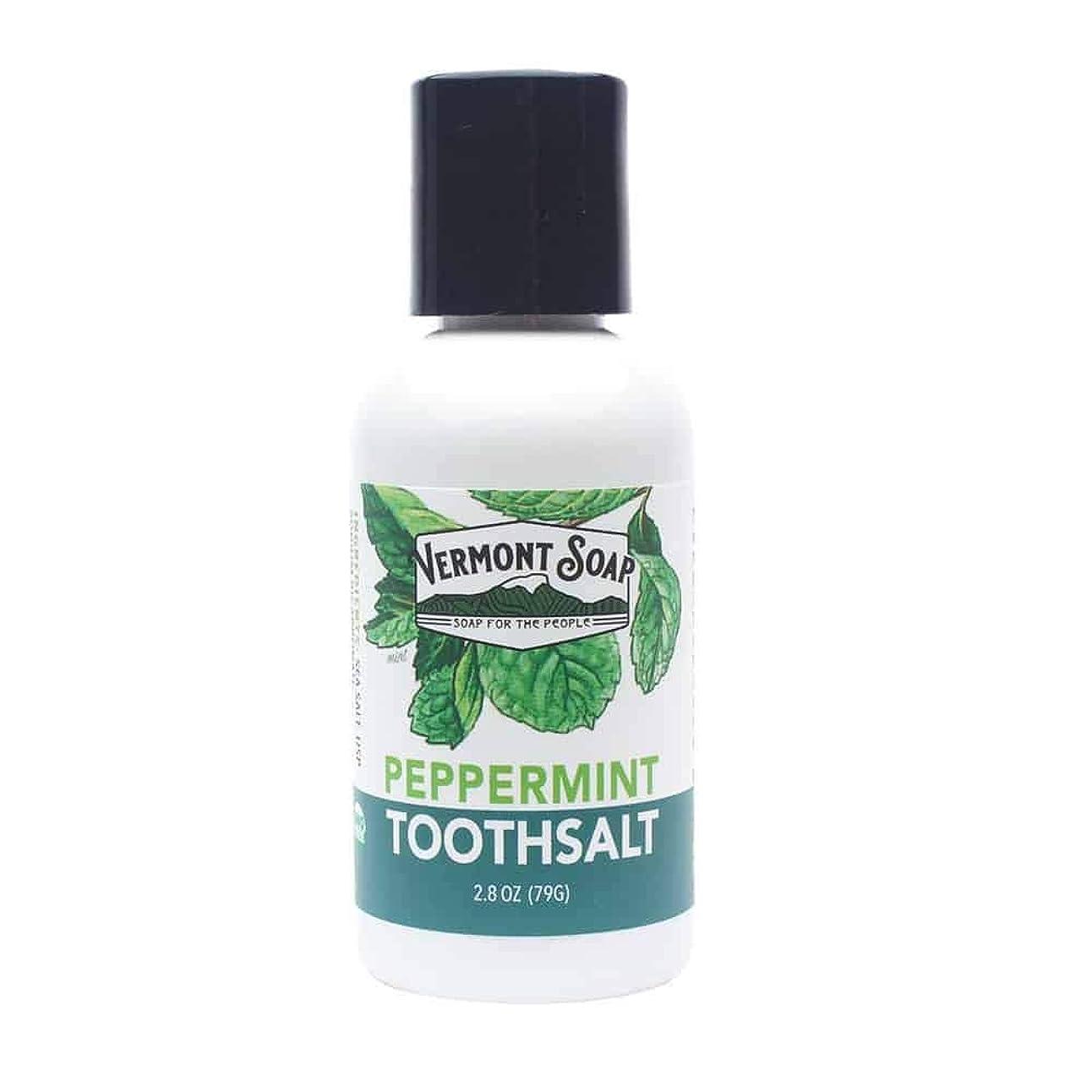 横向き芽幽霊バーモントソープ 塩歯みがき 口臭予防 (L)