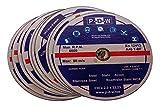 10 discos de corte de acero inoxidable para amoladora angular o de corte – 230 mm de diámetro del eje/INOX/discos flexibles