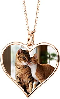 heart shaped photo necklace
