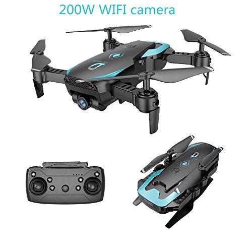 Zantec RC Drone,Drohne mit Kamera, X12 0.3MP / 2.0MP Weitwinkelkamera RC Flugzeug Wifi FPV Drone RC Helicopter Altitude Hold RC Quadcopter Obiettivo grandangolare Nero 720P