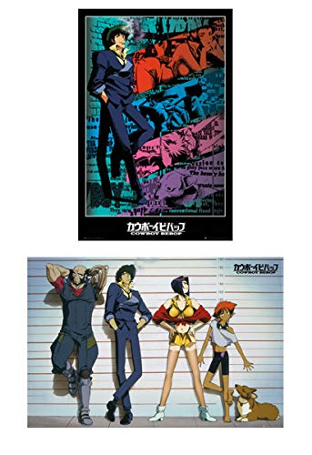 POSTER STOP ONLINE Cowboy Bebop - 2 Piece Manga / Anime TV Show Poster Set (Line-Up & Spike)