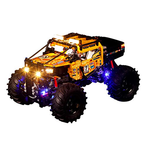 LOSGO Beleuchtungsset LED-Kabel Set für Lego Technic 4x4 X-Treme Off-Roader, Upgrade LED Licht Set, Kompatibel mit Lego 42099
